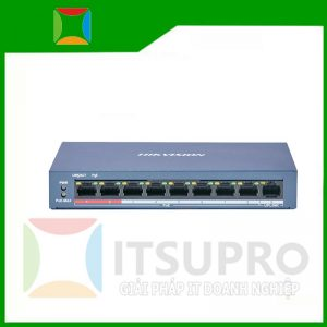 Switch mạng 8 cổng PoE 100M, 1 cổng uplink 10/100M , Layer 2 – DS-3E0109P-E(C)